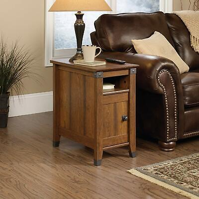 Living Room Side End Table Rustic Coffee Shelf Storage Furniture Bedroom Narrow  Cherry Living Room End Table
