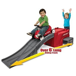 RADIO FLYER Slide Ride On Set Roller Coaster Car Kids Toddler Kids Race Toy Cars
