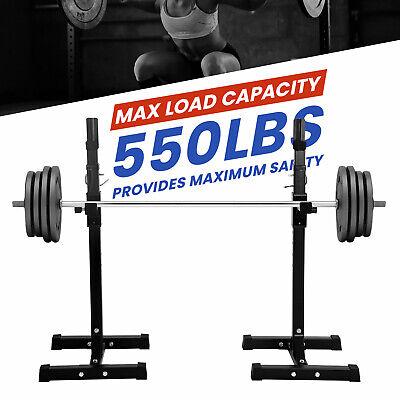 Squat Rack Adjustable Barbell Bench Press Stands Portable Barbell Rack Fitness, Running & Yoga