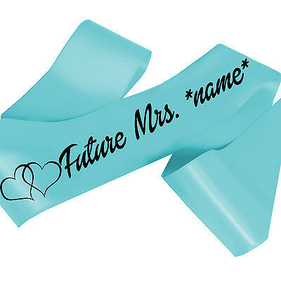 Personalized Sash Lots of Font Colors to Choose! Future Mrs. Custom Sash