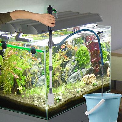 Battery-Operated Aquarium Gravel Fish Tank Vacuum Syphon Cleaner Filter Pump USA