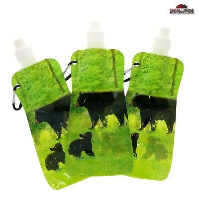 3 Flexible Reusable Water Bottle ~ New - Reusable Water Bottles Bulk
