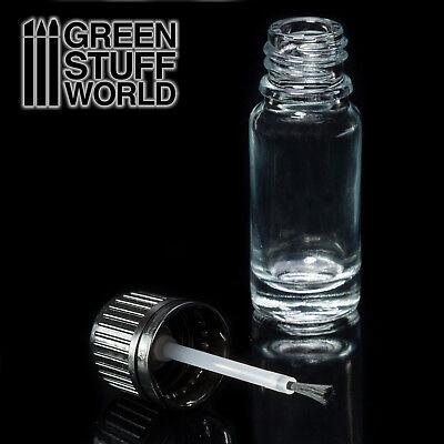Bote de Cristal vacío con Pincel - mezcla pintura tinta dosificador aplicador