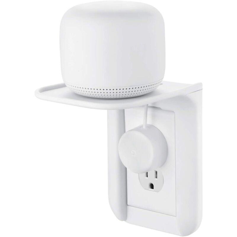 Google Nest WiFi AC Outlet Mount - Nest Mini, Home, Hub, Sonos, Echo, Smartphone