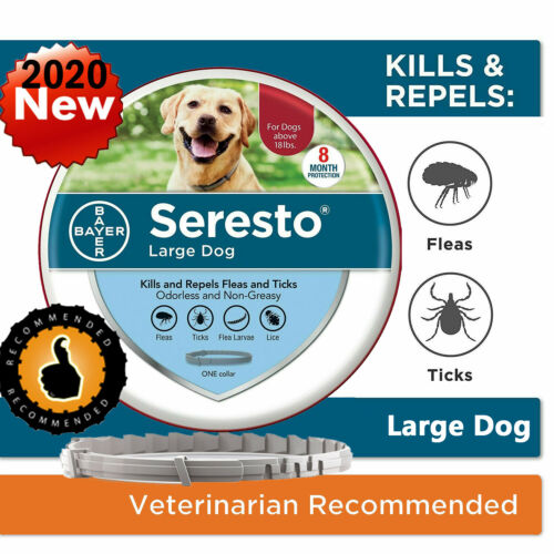 Bayer Seresto Flea and Tick Collar for Large Dog over 18 Ibs 8 Months Protection
