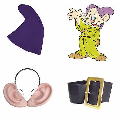 Snow White Seven Dwarfs Fancy Dress DOPEY SET Hat Beard Belt & Ears Fairy Tale - Seven Dwarfs Fancy Dress Costumes