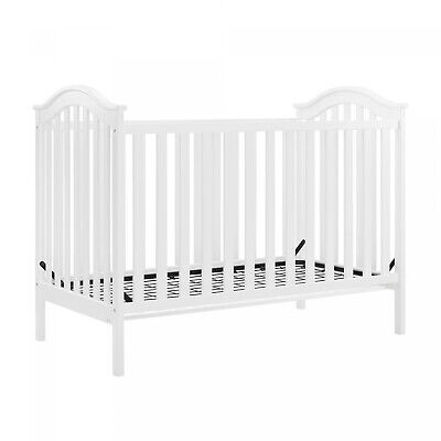Baby Relax Adelyn 2-in-1 Convertible Crib, White