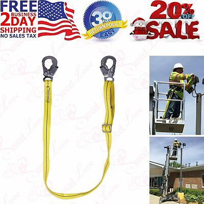 Adjustable Strap Safety Lanyard Climbing Belt Fall Protection Tower Restraint