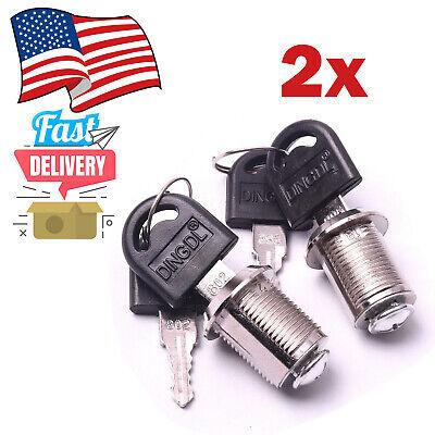 2x Cam Lockcabinet Locktoolbox Latchdrawer Lock Cam 20mm W Keys
