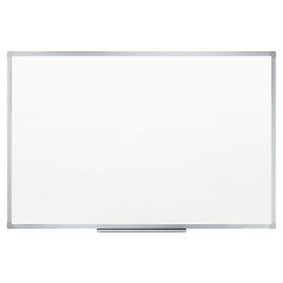 Mead Dry-erase Board Melamine Surface 72 X 48 Silver Aluminum Frame 85358