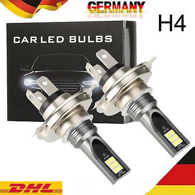 2x H4 200W LED AUTO LAMPEN BIRNE NACHRÜSTSATZGLÜHLAMPEN SCHEINWERFER DC12V 6000K