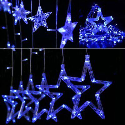 Christmas LED Fairy Curtain Lights Outdoor Twinkle Star Decor String Light CL ()