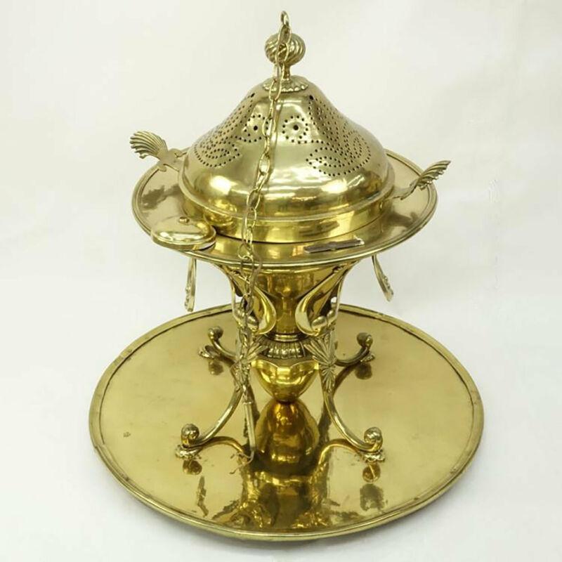 Antique Brass Turkish Ottoman Brazier