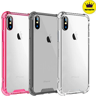 Clear Hard Case Cover For iPhone XS Max XR X 7 8 Plus Crystal Shockproof Slim  Clear Crystal Hard Case Cover