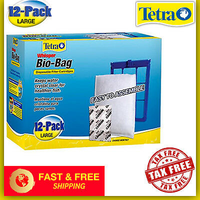 Tetra Whisper Bio-Bag Cartridge Unassembled Large 12-Pack Fish Tank Aquarium