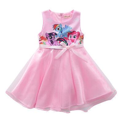 US STOCK Girls  Kids My Little Pony Pink Puple Party Birthday Fancy Dress K50