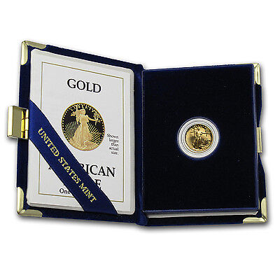 1/10 oz Proof Gold American Eagle (Random Year, w/Box & COA) - SKU #59207