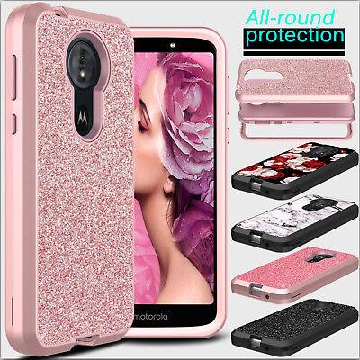 Pattern Hardcover Case - For Motorola Moto E5 Plus / Supra Phone Case Hybrid Shockproof Bling Hard Cover