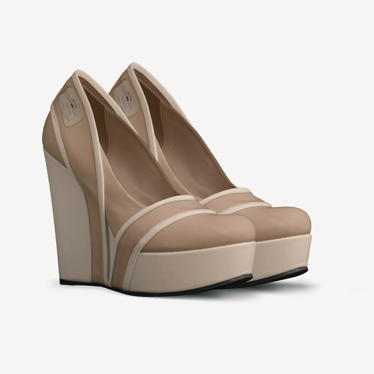 Young and stylish women Size13 cm leather wedge pumps