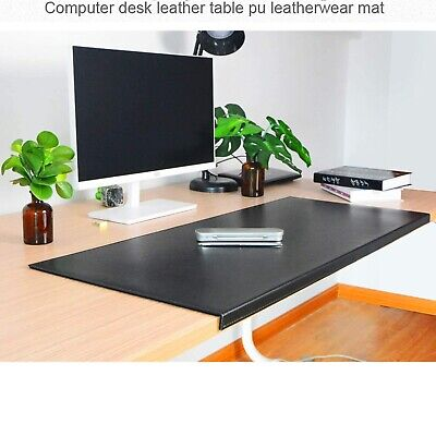 Non-slip Soft Pu Leather Like Surface Office Desk Mat Pad With Full Grip Lip