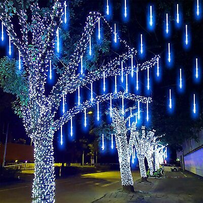 192 LED String Lights For Outdoor Party Tree Show Falling Rain Drop Icicle Light