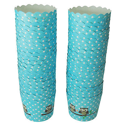 50 X Cupcake Wrapper Paper Cake Case Baking Cups Liner Muffin Dessert Baking Cup