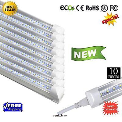 10 Gathering of LED T12 4FT Linkable Led Shop Lights Super Bright White NEW - 6500k