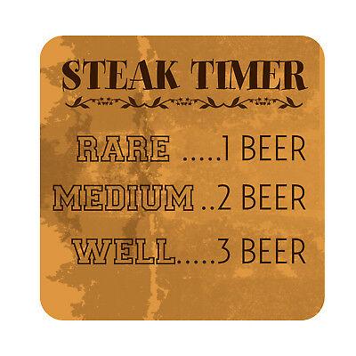 Outdoor Garden Sign (Steak Timer Patio Sign, Metal Outdoor Garden Decor Beach Pool Party)