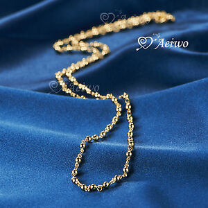 18K YELLOW GOLD GF BALL CHAIN NECKLACE 59CM