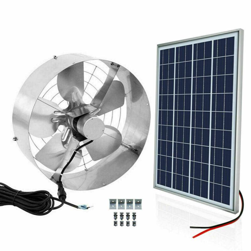 65W 3000CFM Greenhouse Ventilation Vent Fan Extractor Kit & Solar Powered Panel