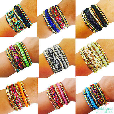 SALE 'Layered' Beaded Bracelet for Fitbit Flex, Flex 2, Alta, Charge Trackers