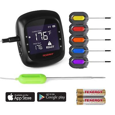(LCD Digital Meat Thermometer Kit / Probe For Smoker Grill Food BBQ Thermometer)
