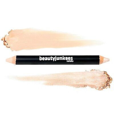 Brow Concealer & Highlighter Duo Pencil Crayon Cool Beige by Beauty Junkees