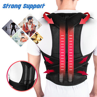 For Men Women Adjustable Posture Corrector Low Back Support Shoulder Brace Belt