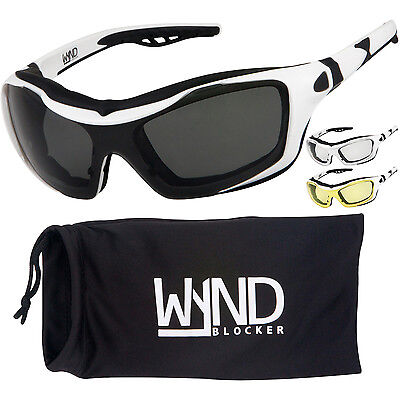 329 Glasses - WYND Blocker White Motorcycle Sunglasses Goggles Sports Boating Driving Glasses