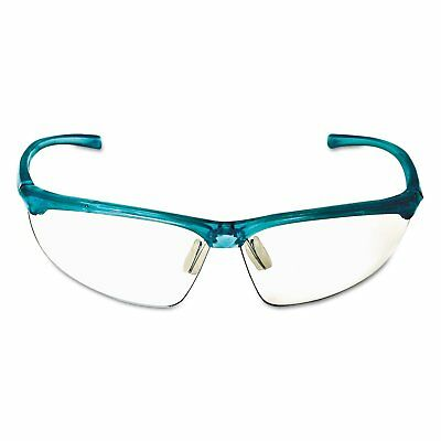 3m 11735 Refine 201 Safety Glasses Wraparound Clear Antifog Lens Teal Frame