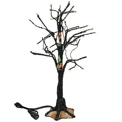 Department 56 Halloween Village Black Light Bare Branch Tree (4057623) - Black Tree Branches Halloween