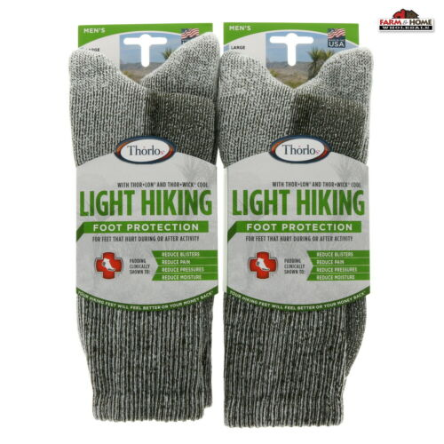 (2) Thorlo Crew Hiking Socks Large Sage ~ NEW