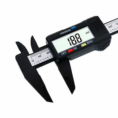 150mm6inch Lcd Digital Electronic Carbon Fiber Vernier Caliper Gauge Micrometer