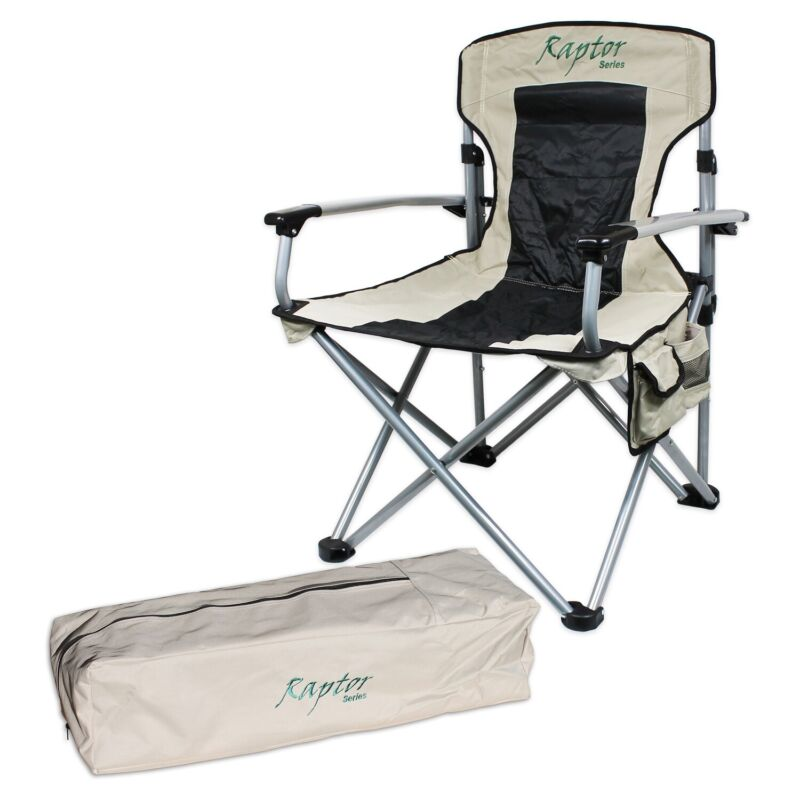 Offgrid Oversized Heavy Duty Folding Outdoor Camping Chair Seat Portable