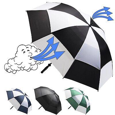 Golfschirm XXL mit Windventil und Sturmgestänge | 132cm Ø | Regenschirm | Schirm