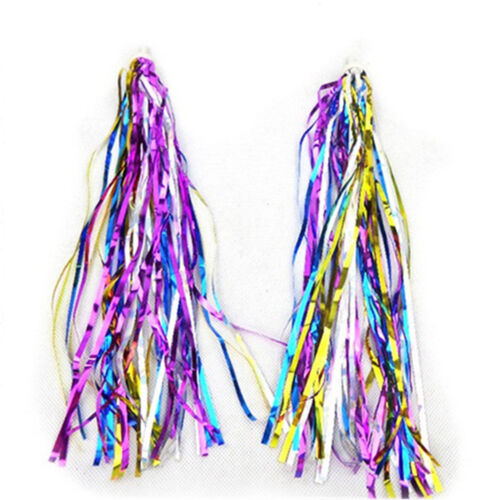 2Pcs Kid Bicycle Bike Handlebar Scooter Streamers Sparkle Tassel Ribbon Popular