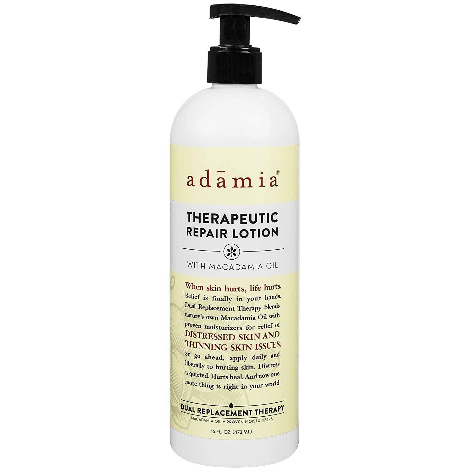 Adamia Therapeutic Repair Lotion with Macadamia Nut Oil and