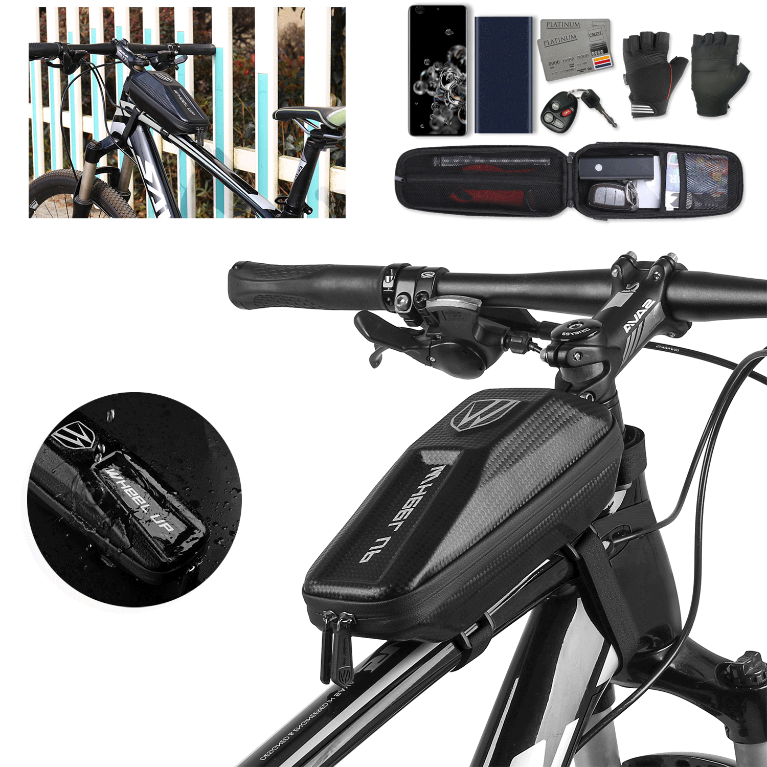 Front Top Tube Waterproof Frame Bicycle Bike Bag Cell Phone Pouch Holder Case Bags & Panniers