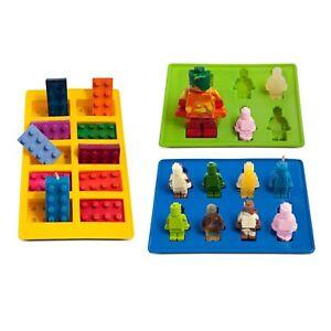 Lego Ice Trays Cube Chocolate Jelly Gummies Candy Jello Molds Silicone Brick Kid