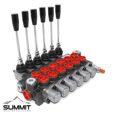 6 Spool Monoblock Hydraulic Directional Control Valve 11 Gpm Sae Ports
