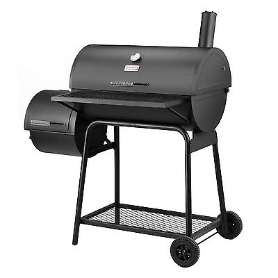 "Royal Gourmet Charcoal Grill with Offset Smoker BBQ Backyard Cooking 30"" L"