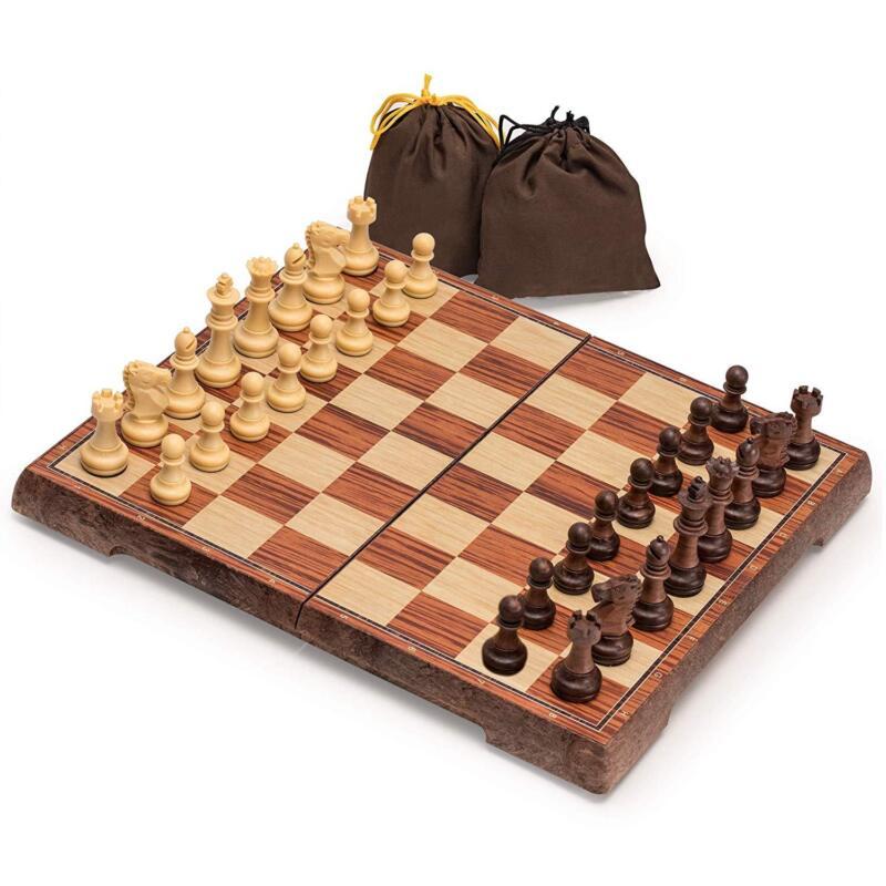 Yellow Mountain Imports Portable Magnetic Chess Set, 10.6 X