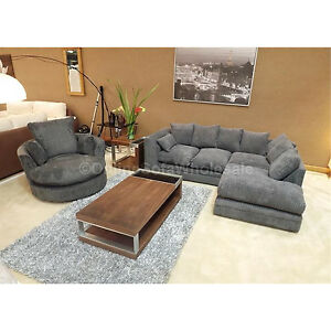 Dylan Corner Sofa Right Hand Plus Swivel Chair All Over