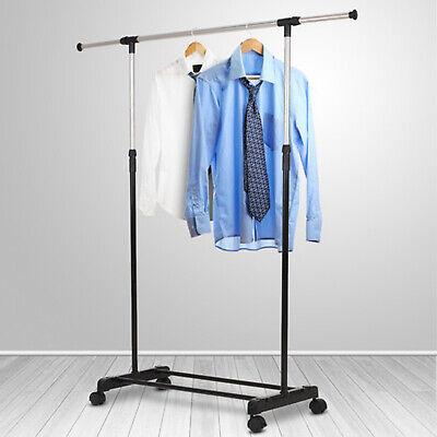 Mit 4Rollen Kleiderstange Verstellbar Klamotten Garderobenständer Kleiderständer